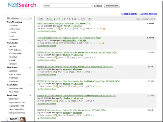 Nzbsearch Result Page