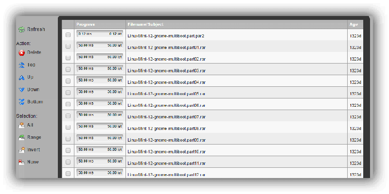 Sabnzbd Download Progress